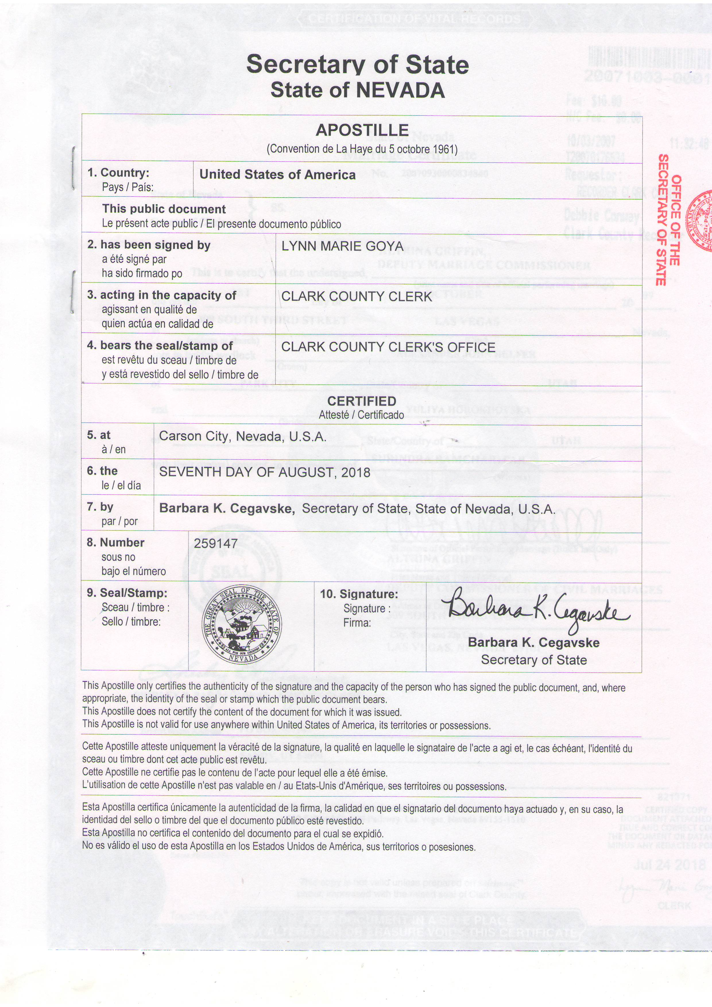 U S Apostille Sertified Copies Of The U S Documents 38 099 337 3951 Kyiv Legalization Center