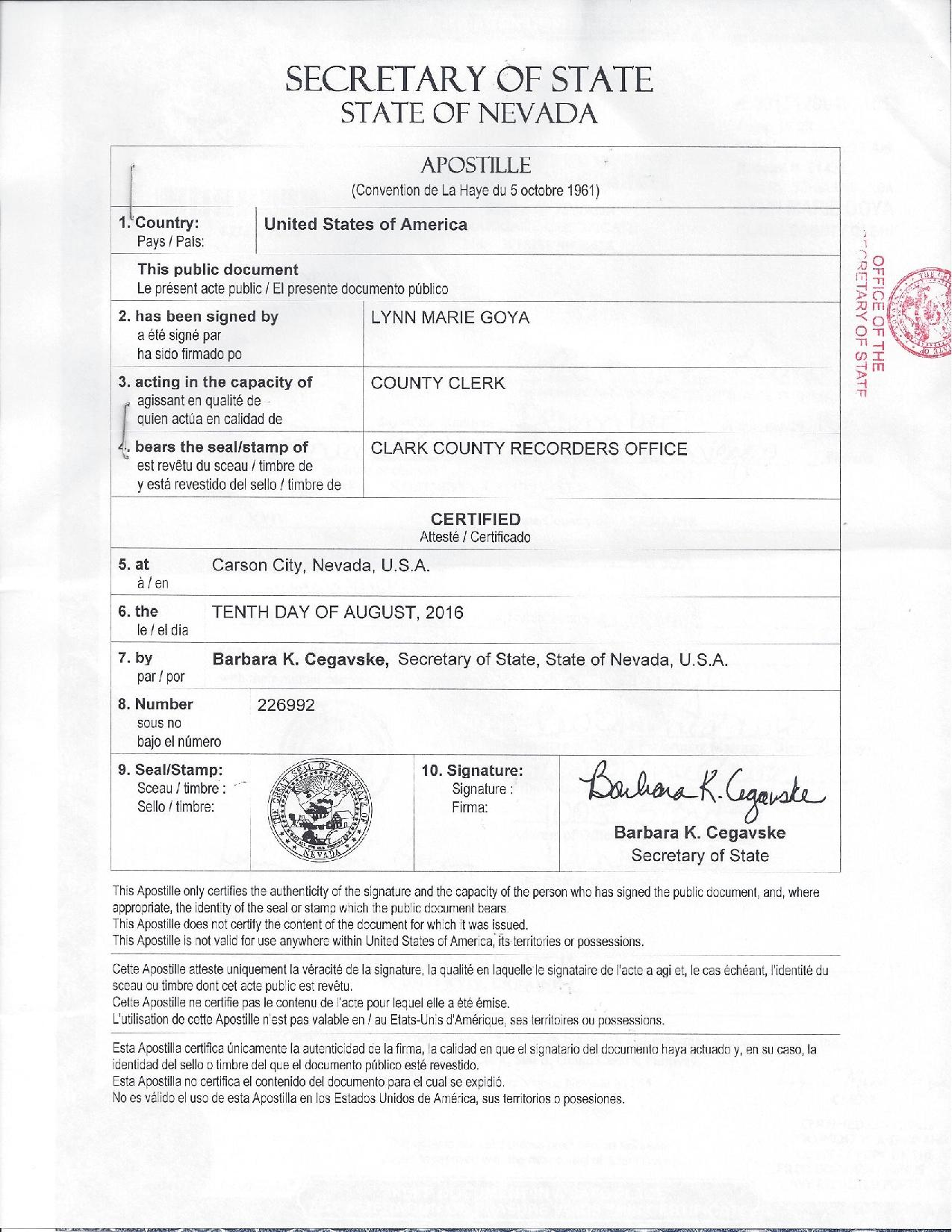 Us apostille obtaining a certified copy from the usa 380 99 marriage cert nv aiddatafo Gallery