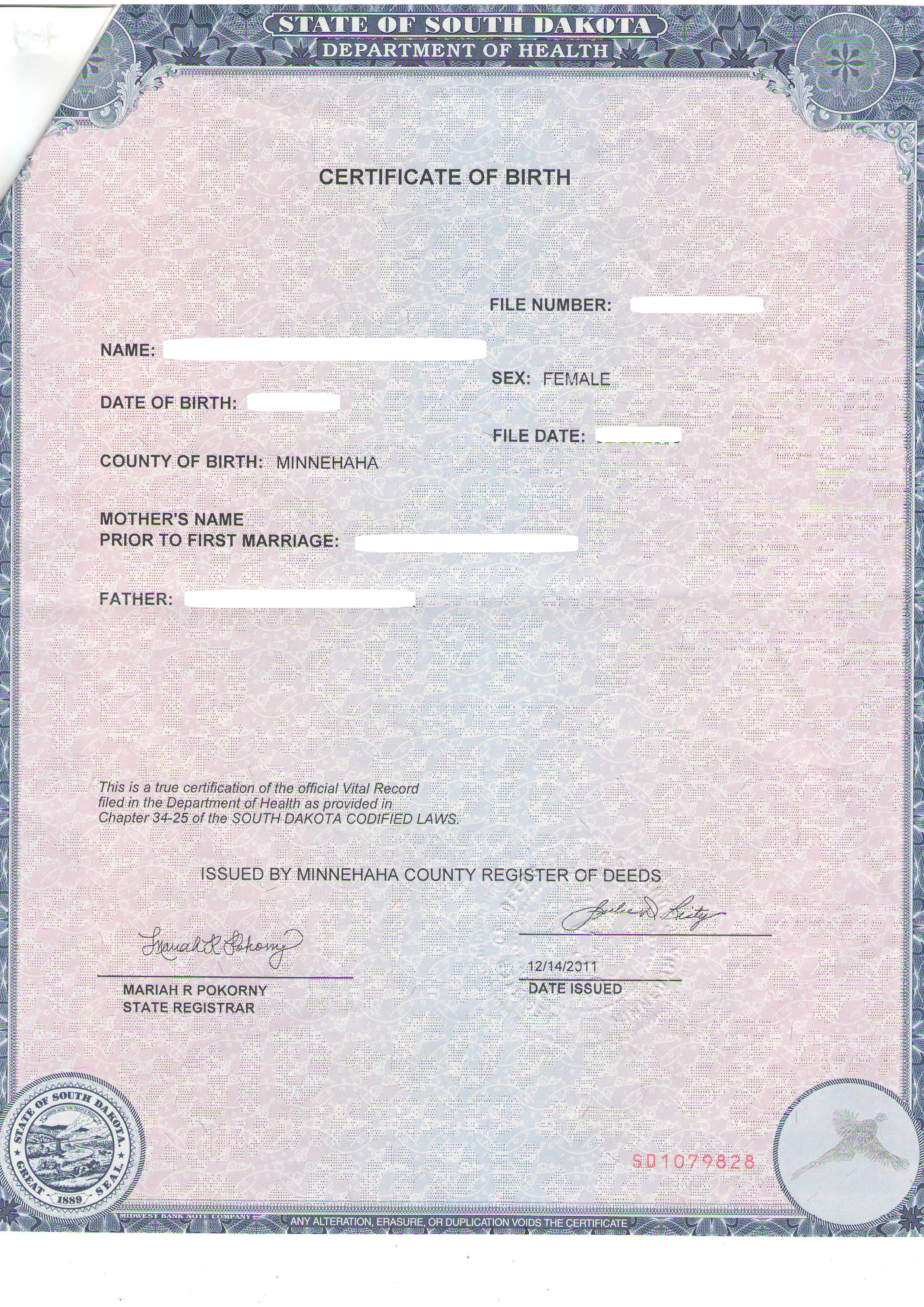 state of nd birth certificates